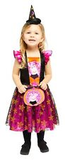 Toddlers Girls Peppa Pig Cute Witch Halloween Fancy Dress Costume 12months-6yrs