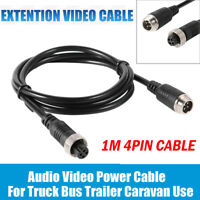 1M 4 Pin Video Extension Cable Wire For VAN Bus Truck Reversing Rear View Camera