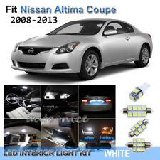 For 2008-2013 Nissan Altima Coupe Xenon White LED Interior Lights Kit 9 Pieces