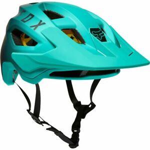 New Fox Racing Speedframe MIPS Mountain Bike Helmet Turquoise Adult Size Medium