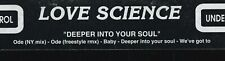"90s Electronic House LOVE SCIENCE deeper soul Rare Italian 12"" Vinyl Single Ex"