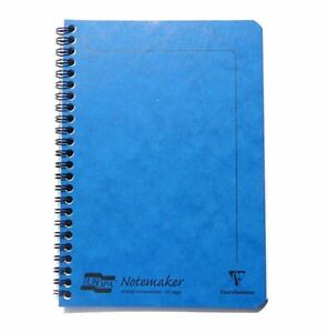 Europa A5 Lined Wirebound Notebook 120 Pages Blue   NEW