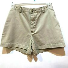 GAP Women's Size 8 Beige Khakis Relaxed Fit Button Fly Flat Front Cotton Shorts