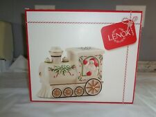 "New In Box Lenox ""Hosting The Holidays"" Santa & Train Cookie Jar Christmas Look"