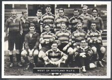 ARDATH-PHOTOCARDS D SCOTS FOOTBALL (LF165)-#118- RUGBY - WEST OF SCOTLAND