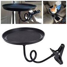 360° Car Swivel Mount Holder Travel Drink Cup Coffee Table Stand Food Tray Black