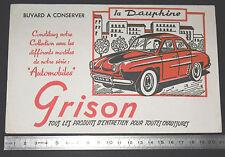 BUVARD 1950 GRISON ENTRETIEN CHAUSSURES AUTOMOBILE AUTO DAUPHINE RENAULT