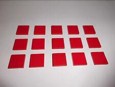Lego (3068) 15 Fliesen 2x2, in rot aus 8652 8156 4896 10183