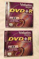 NEW VERBATIM DataLifePlus DVD+R Recordable 1x-4x 4.7 GB Data 120min Video DVD RW