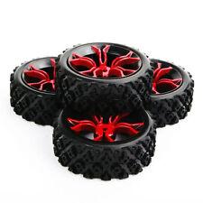 4pcs 1:10 Rc Rubber Tires&Wheel Rim Set Fit Hsp Hpi Rally Racing Off Road Rc Car