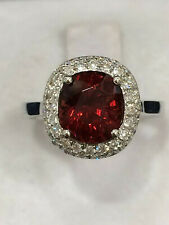 CERTIFIED 2.51 Ct Very High Quality Pure Red Spinel Ring 18K Gold and Diamonds