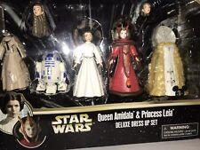 Star Wars Queen Amidala and Princess Leia Figures Deluxe Dress up SetDisney Park
