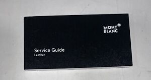 Mont Blanc Leather Service Guide - Blank