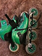 Vanilla Carbon Green 3 or 4 Wheel Inline Speed Skate