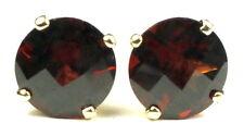 Mozambique Garnet, 14KY Gold Post Earrings, E212