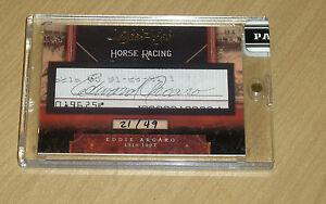 2011 Panini Limited Cuts Eddie Arcaro cut autograph horse racing jockey 21/49