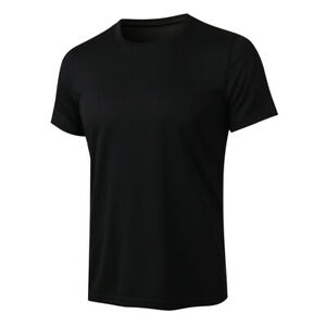 Men's Training Running Sports T-shirt Sweat Wicking Tops Breathable Short Sleeve