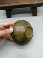 """3.15""""Collection Chinese copper Handmade carving Dragon bowl"""