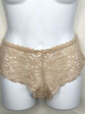 Honeydew All Over Lace Panties Size L Beige