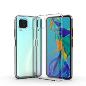 Hülle für Huawei P40 Lite Handy Case Silikon Cover Tasche Bumper transparent
