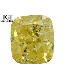 IGI CERTIFIED Natural Loose Diamond Cushion I1 Yellow Color 0.56 Ct L7701 Bkk