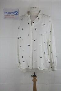 WG579D Mint Velvet Ivory Circle Embroidery Shirt Size 12