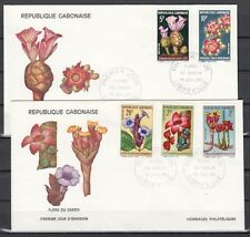 Gabon, Scott cat. 244-248. Local Flowers issue. 2 First day covers.