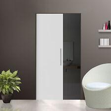 Glass Single sliding Pocket Door System  full set Frosted Glass  740 mm