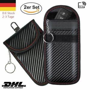 2 Pack Keyless Go Schutz Schlüsseltasche RFID Schlüsseletui Schlüsselmäppchen DE