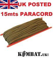 PARACORD OG KOMBAT UK MILITARY 15M Mts 50 Feet x 3mm Survival Basha Tent Lines
