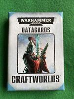 Craftworlds Eldar Datacards Warhammer 40k - Games Workshop