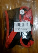 Heele Dog Muzzle, Nylon, Mesh Breathable, Red, Size Xl
