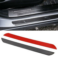 Carbon Fiber Car Door Sill Plate Panel Guard Protector Trims For Audi Honda Ford