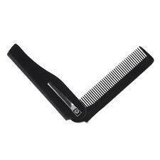 Plastic Folding Clip Hair Comb Moustache Beard Hairbrush Travel Portable Pocket