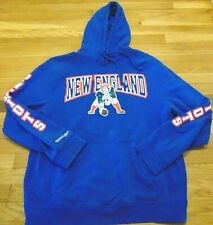 MITCHELL & NESS NFL NEW ENGLAND PATRIOTS HOODED SWEATSHIRT SIZE XL