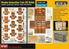 1/35 WWI - Wooden Ammunition Crate 303 British