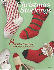 Christmas Stockings Annie's Attic Crochet Instruction Pattern Santa Folk Art NEW