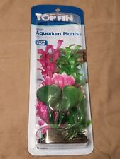 New listing Aquarium Fish Tank Top Fin Green/Purple Flower 3Pack Plant Decoration With Base