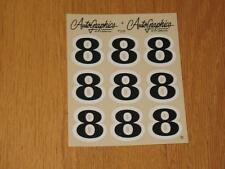Autographics of California No Number 8 Decal Sticker Sheet RC 10 RC10 NASCAR 125