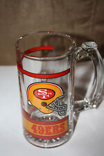 SAN FRANCISCO 49ERS VINTAGE 1990'S NFL GLASS MUG BRAND NEW