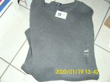 GAP Mens Charcoal Gray Heather Long Sleeve v neck Knit pullover Size Large ..