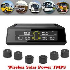 Car Van TPMS Wireless Solar Tire Pressure Monitor System With 6 External Sensors