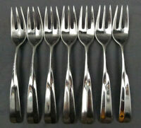 """Lot of 7 Dansk Tangent Stainless Dinner Fork 7 3/4"""" Japan"""