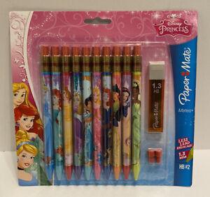 Paper Mate Disney Princess Mechanical Pencils 10 Pack 1.3 MM HB #2 Extra Lead