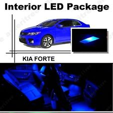 For Kia Forte 2010-2013 Blue LED Interior Kit + Blue License Light LED