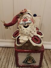 Blue Sky Clayworks Christmas Jack in the Box Santa Claus 2002 Signed by Goldminc