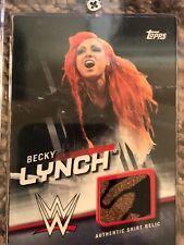 Topps 2016 WWE Divas Revolution Becky Lynch Silver Shirt Relic /50