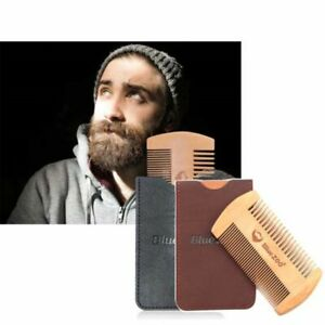 Tool Pocket Size Hair Mustaches Brush Double Side Beard Comb Fine Coarse Teeth