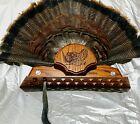 WILD TURKEY HUNTING TAIL BEARD MOUNT OAK HOLDER TROPHY PANEL PLAQUE TAXIDERMY