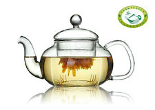 Clear Glass Flower Teapot With Lid & Infuser 800ml / 28.1oz